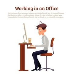 Concept of office syndrome in men vector