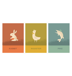 concept restaurant poster set with french food vector image vector image