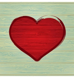 Drawing love symbol on old wooden EPS8 vector image