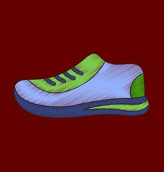 flat shading style icon sports shoes vector image