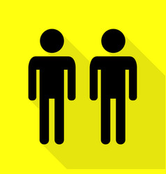 Gay family sign black icon with flat style shadow vector