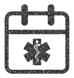 Health care day grainy texture icon vector