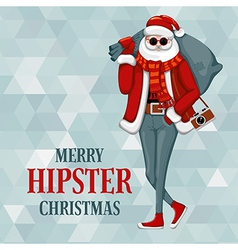 Hipster Christmas vector image vector image