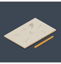 Isometric copybook vector