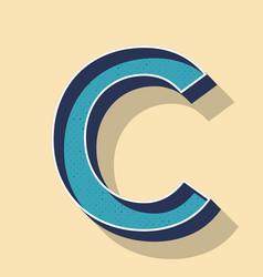 Letter c retro text style fonts concept vector