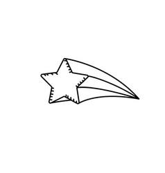 Line shiny star art design icon vector