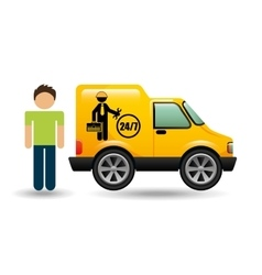 Man car mechanic service icon graphic vector