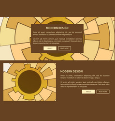 modern design two web pages vector image