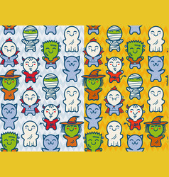 patterns for halloween vector image vector image