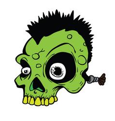 Punk skull vector