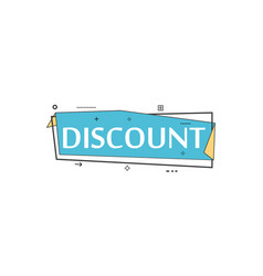 Retail speech bubble with discount phrase vector