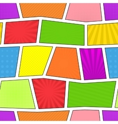 Seamless comic pattern vector