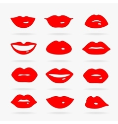 Set of Symbols Lips vector image vector image