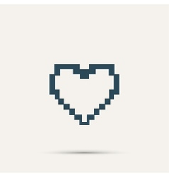 Simple stylish pixel icon heart design vector image