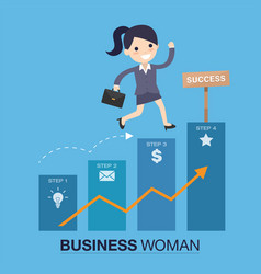 Successful woman vector