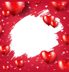 valentines day poster vector image vector image
