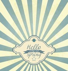 Vintage spring frame vector