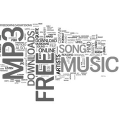 What is free mp music download text word cloud vector