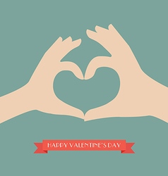 Woman and man hands making up heart shape vector image vector image
