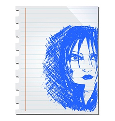 Woman doodle vector image vector image