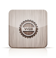 wooden app icon on white background Eps 10 vector image vector image