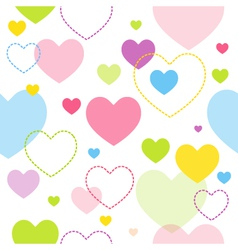 Spring hearts pattern vector