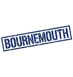 Bournemouth blue square stamp vector