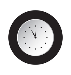 Round black white button last minute clock icon vector