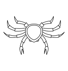 Crab seafood icon outline style vector