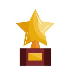 trophy award star icon vector image