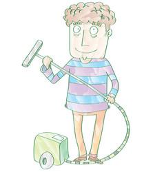 Using vacuum cleaner vector