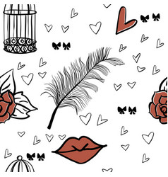 Seamless romantic patter vector