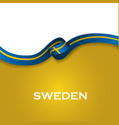 Sweden sport style flag ribbon classic style vector