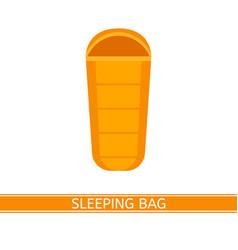 sleeping bag icon vector image