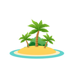 Nature landscape of tropic island with sand beach vector
