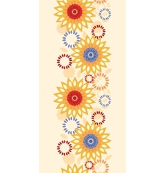 Warm vibrant floral abstract vertical seamless vector
