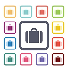 case flat icons set vector image