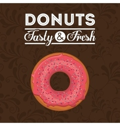 Delicious donuts design vector