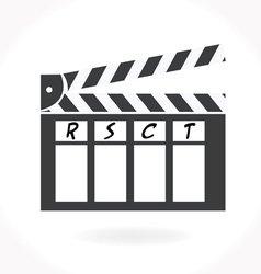 Movie clap icon vector