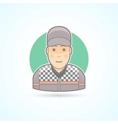 Car racer bolide pilot icon vector image