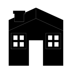 House silhouette icon vector
