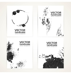 Abstract black and white brush texture hand vector