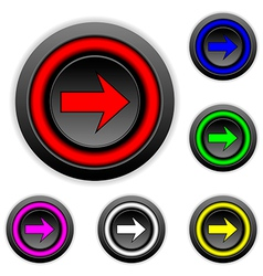Arrow sign buttons set vector image vector image