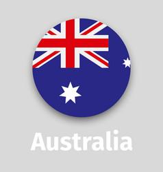 australia flag round icon vector image vector image