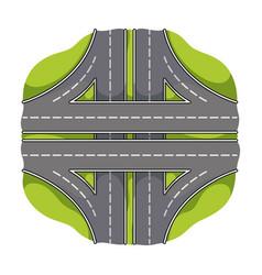 Autobahn single icon in cartoon styleautobahn vector