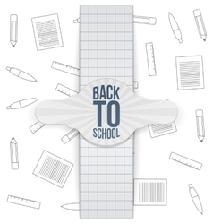 Back to school realistic paper badge vector