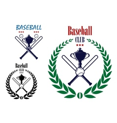 Baseball sport club emblem vector