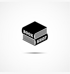 book shop logo vector image vector image