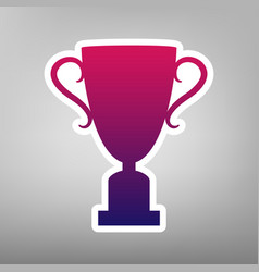 Champions cup sign purple gradient icon vector
