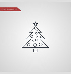 Christmas tree icon simple vector
